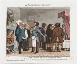 A Coroner's Inquest, 1826. ©Lewis Walpole Library (taken from London Lives http://www.londonlives.org/static/IC.jsp)