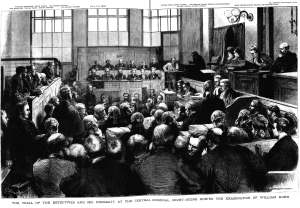 The Trial of the Detectives at the Old Bailey. The Graphic, 17 November 1877